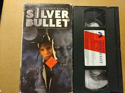 Stephen Kings Silver Bullet (VHS, 1991) two tapes different slip case covers