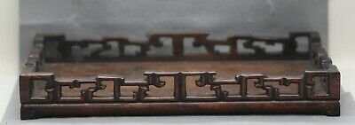 Exquisite Antique Chinese Carved Huanghuali Wooden Scholar's Tray Circa 1800s