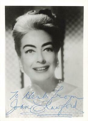 "Joan Crawford Signed 5"" x 7"" Photo & Letter On Personal Letterhead 1970"