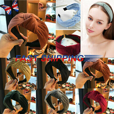 Women's Soft Headband Alice Band Top Knot Fashion plain Headband Twist Hairband