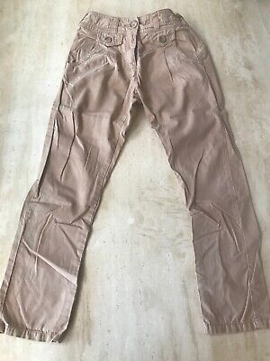 Next Beige Girls Chino Trousers Age 9 Years
