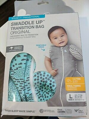NEW Love to Dream Swaddle Up 1 Tog Transition Bag 50/50 Fields LARGE