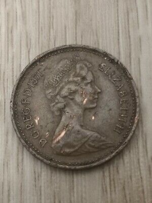 Rare 1 pence, 1971 coin, New Penny