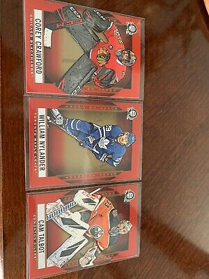 2018-19 OPC Coast To Coast RED Parallels Lot of 3 Crawford Nylander Talbot