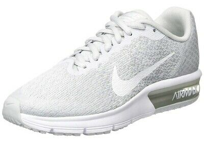 Nike Air Max Sequent 2 Junior Boys Girls Unisex Trainers UK 3.5 Grey And White