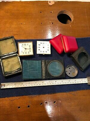 Job Lot Travel Clocks Spares Repairs Envoy Acctim Cases Backs Untested