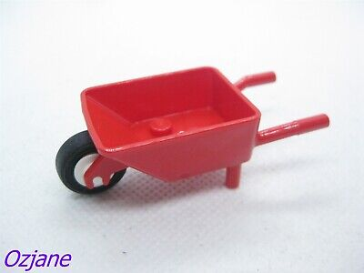 1x Minifig Wheelbarrow brouette rouge//red 98288c01 NEUF Lego