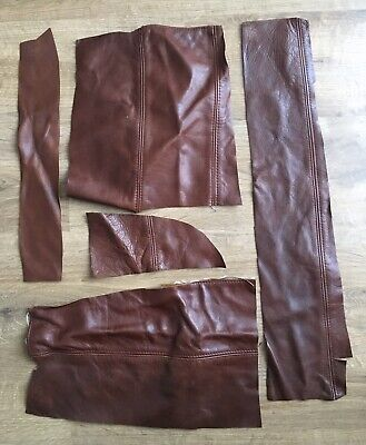 Upholstery Quality Leather Off-Cuts/Remnants CHESTNUT BROWN. Arts & Crafts. 900g