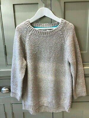 Mini Boden girls age 11-12 pale gold wool mix jumper excellent cond