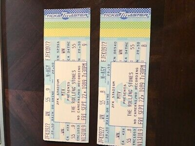 Rolling Stones Vintage Tickets (2) Two Tickets