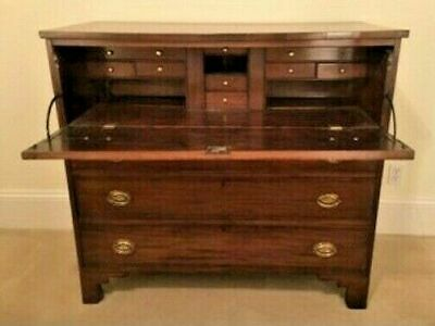 Antique Country Butlers Desk Chest Of Drawers Dresser