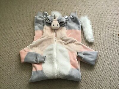 Next Girls Unicorn Hooded All-in-one, super soft Fleece age 9