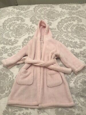 M&S Baby Girls Dressing Gown 1-2yrs.