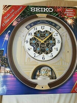 New Seiko Melodies In Motion 2019 Special Collector's Edition Musical Wall Clock