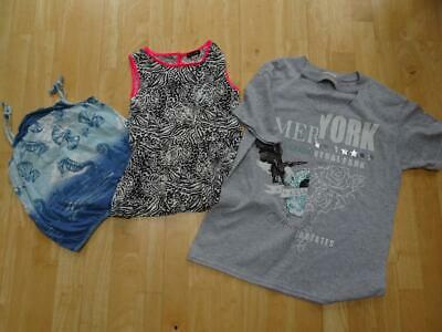 RIVER ISLAND girls 3 pack summer t shirt tops AGE 7 - 8 YEARS EXCELLENT COND