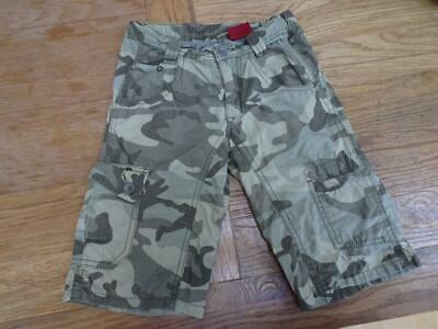 LEVIS boys green camouflage cargo utility shorts AGE 6 YEARS AUTHENTIC