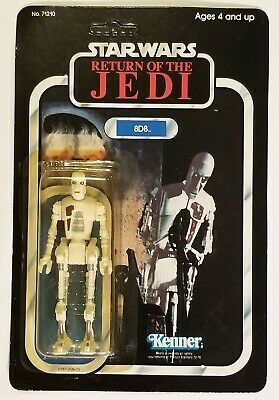 Vintage 1983 Kenner Star Wars ROTJ 8D8 Action Figure Unpunched