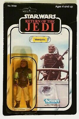 Vintage 1983 Kenner Star Wars ROTJ Weequay Action Figure Unpunched