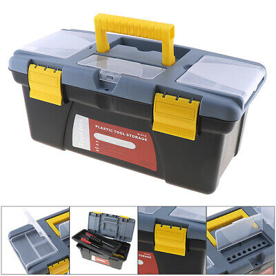 Large Portable Plastic Hardware Tool Box For Home Screw Wrench Hammer Storage