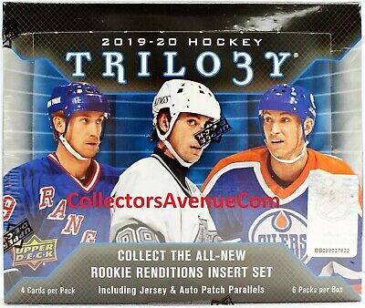 2019-20 UD Upper Deck TRILOGY Hockey Hobby Box Sealed - CollectorsAvenueCom