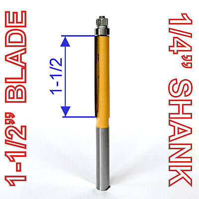 """1 pc 1/4"""" SH 1-1/2"""" Extra Long Straight Router Bit sct-888"""
