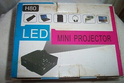 Generic Black Mini Projector - H80, 12V 2A - Led - Usb