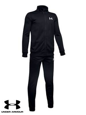 UA under armour boys poly knit tracksuit black XS-XL RRP £59.99 bnwt