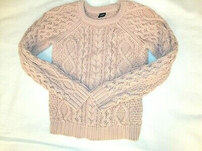 Girls baby gap pink cable knit jumper top sweater age 5 years