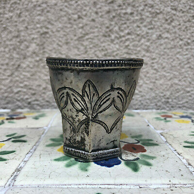 Old Spanish Colonial silver cup - as is