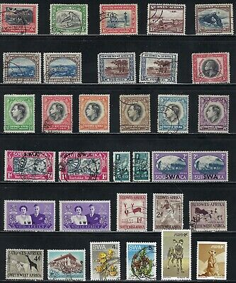 South West Africa - Nice Collection of Older Stamps, ..........# 0121