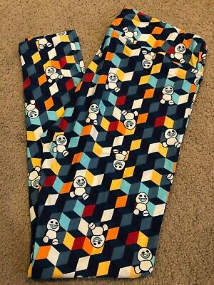 BNWT LuLaRoe Disney TC Frozen Olaf Snowman Snowgies Tall and Curvy