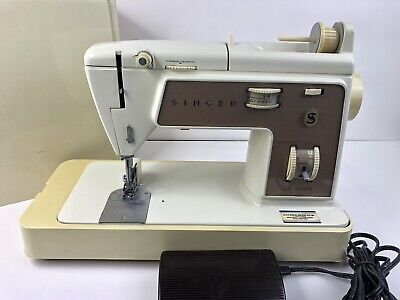 Singer 758 Touch-N-Sew Sewing Machine with Pedal, Case( FOR PARTS)