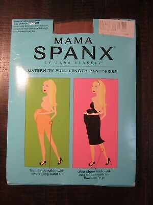 NEW Mama SPANX Pantyhose Size A Black full length maternity reinforced toe
