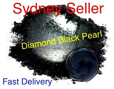 30g Black Diamond Pearl Pigment Powder Epoxy Stunning 400 Grit Wood River Table