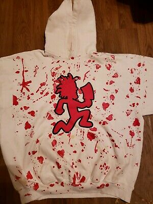Insane Clown Posse Hatchet Man Bloody Hoodie 2xl Psychopathic bloody hoodie ICP