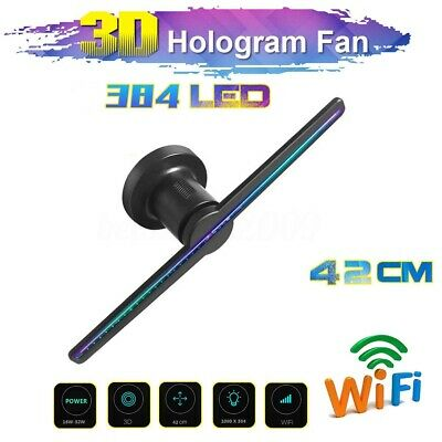 384 LED WIFI 3D Holographic Projector Display Fan Hologram Advertising Player