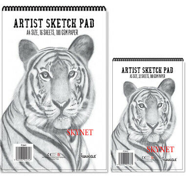 A4 A5  Sketch Pad Book 70GSM - 180GSM White Paper Artist Sketching Drawing Art