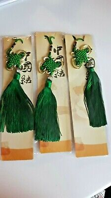 3 Chinese Lucky Tassels - Green