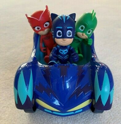 PJ Masks Catmobile and Catboy, Owlette and Gecko Figures