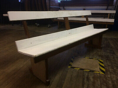 Mid century vintage church pew / bench (chair / seat / wooden) (10 available)