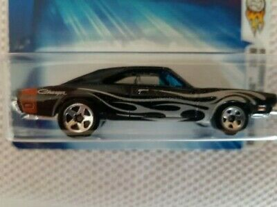 Hot Wheels 1969 Dodge Charger With Flames 2004 First Editions 1/64