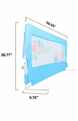Odoland HK 56 inch swing down extra long bedside safety rail