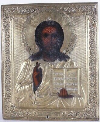 Russian icon Jesus Christ 19th century original das Symbol l'icona