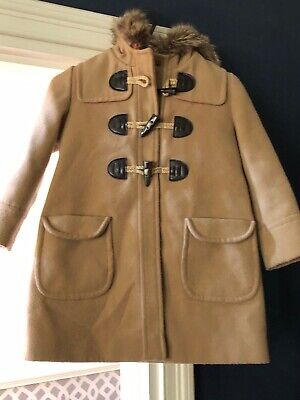 Monsoon girls beige and pink coat age 5-6