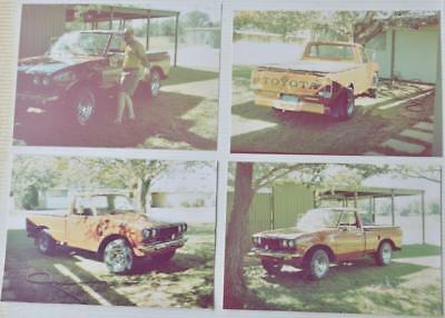 4) Vintage Toyota Truck Photo Photograph Lot 1970's