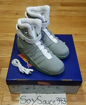 Back To The Future 2 Shoes Air Mag Universal Studios Halloween Sneakers Size 8