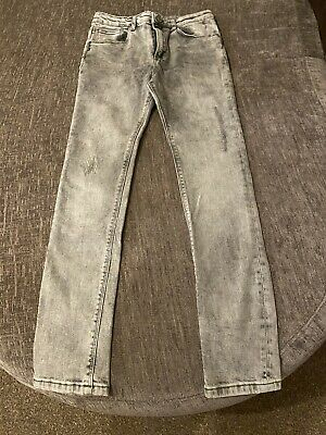 Boys Girls River Island Grey Distressed Skinny Jeans Age 11 BNWOT