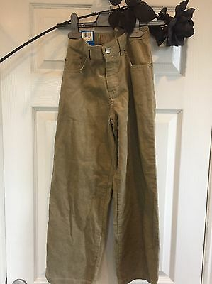 Marks And Spencer's Corduroy Trousers Beige Age 8 Brand New With Tags 4ft 2""
