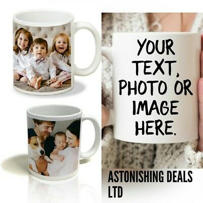 PERSONALISED TEXT PHOTO NAME MUG Christmas Birthday Fathers Mothers gift new