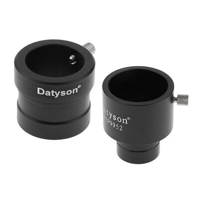 Metal 0.965/1.25in to 1.25/0.965in Telescope Eyepiece Mount Adapter Ring